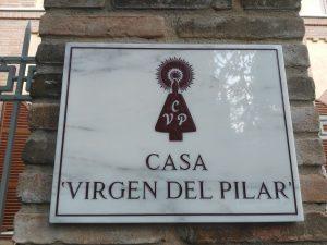 Targa Ingresso Casa Per ferie Virgen del Pilar