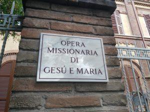 Ingresso Casa di Procura Opera Missionaria di Gesù e Maria
