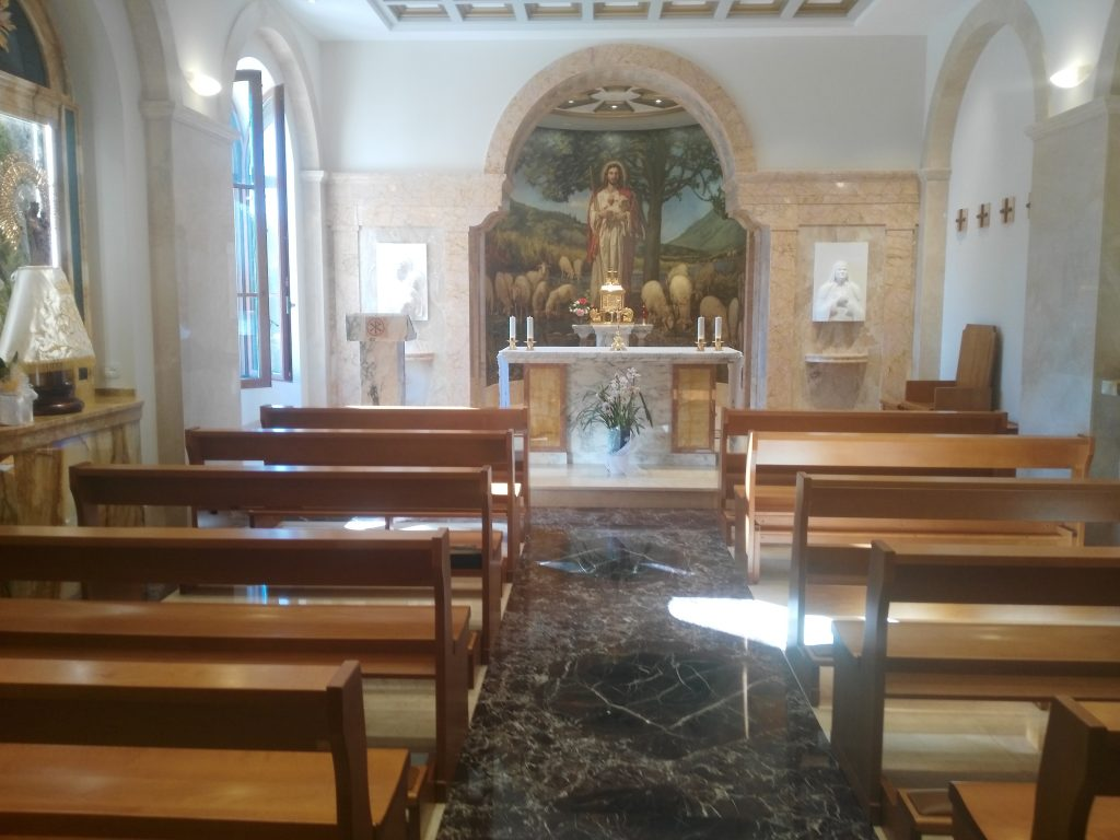 """La nostra cappella intitolata alla """"Virgen del Pilar"""""""