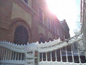 La neve illuminata dal sole